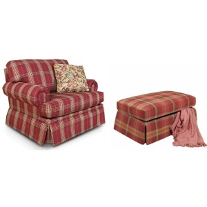 Clare Chair And A Half Glider and Storage Ottoman
