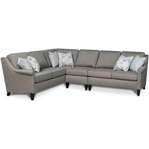 Ella 2PC Sectional with Nails