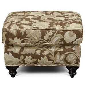 Stacy Ottoman with Nailhead Trim