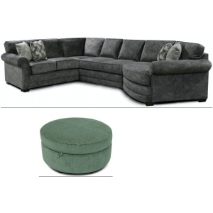 Brantley 3PC Sectional with Midtown Ottoman