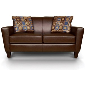 Collegedale Leather Loveseat