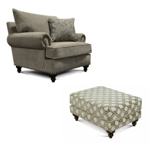 Rosalie Chair with Ottoman