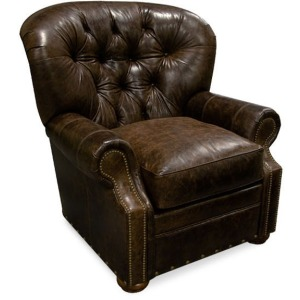 Lourdes Arm Chair with Nails & Ottoman