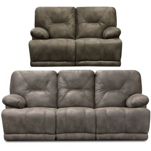 Double Power Reclining Sofa & Loveseat