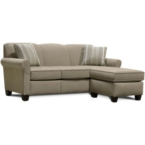 Angie Sofa w/Floating Ottoman Chaise