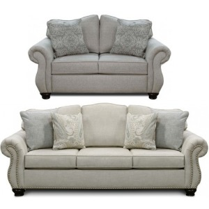Pearson Sofa & Loveseat with Nails