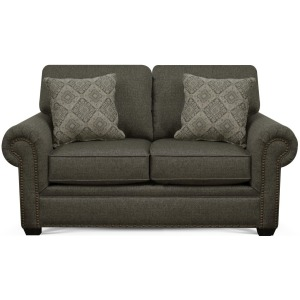 Brett Loveseat with Nailhead Trim