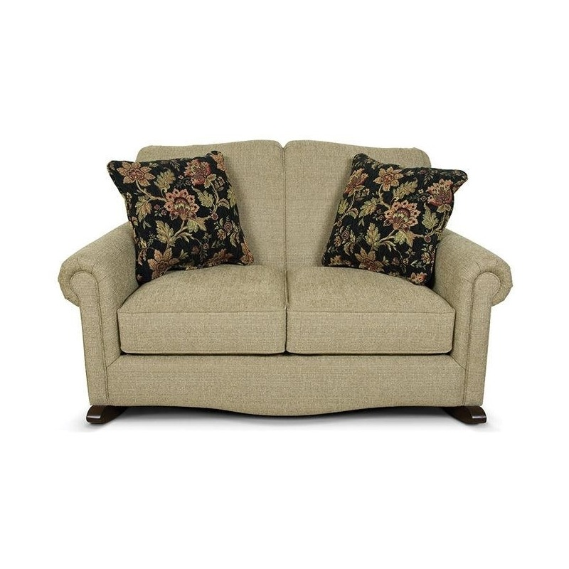 Brilliant Rocking Loveseat Living Room By England Furniture 63099L Squirreltailoven Fun Painted Chair Ideas Images Squirreltailovenorg