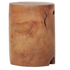 Solid Teak Wood Stool - Cylinder