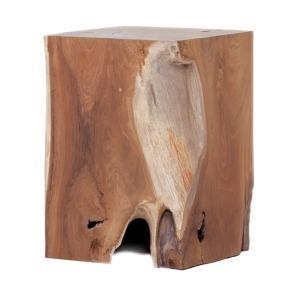 Solid Teak Wood Stool - Rectangle