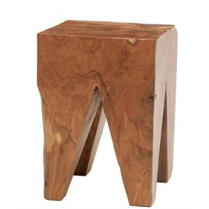 Solid Teak Wood Stool - Square