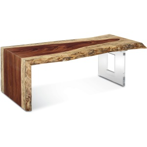 Live Edge Waterfall Cocktail Table