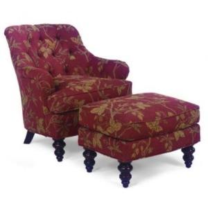 Fabric Lounge Chair & Ottoman