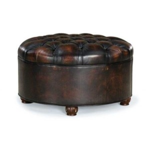 Roswell Cocktail Leather Ottoman