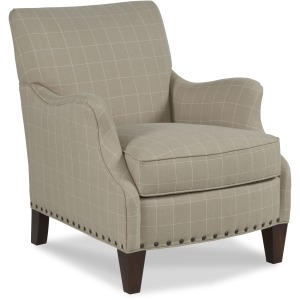 Leland Lounge Chair w/Nailhead Trim