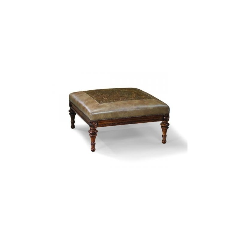 Pleasant Leather Cocktail Ottoman By Fairfield Chair Company 1657 Andrewgaddart Wooden Chair Designs For Living Room Andrewgaddartcom