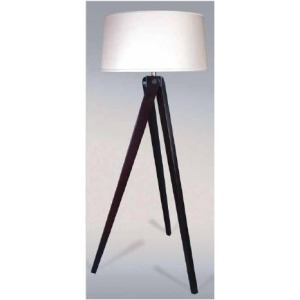 60 Inch Espresso Wood Tripod Floor Lamp