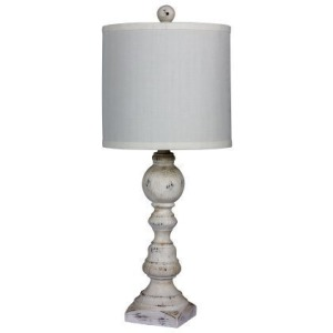 "26"" Distressed Balustrade Resin Table Lamp"