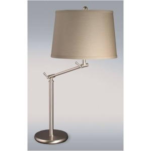 25-32 Inch Satin Nickel Adjustable Arm Metal Table Lam