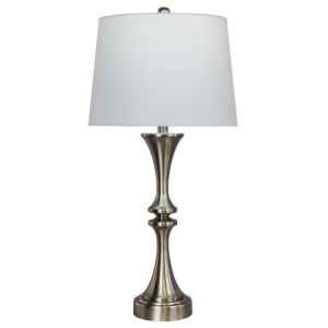 "29"" Classic Metal Candlestick Table Lamp w/USB - Set of 2"