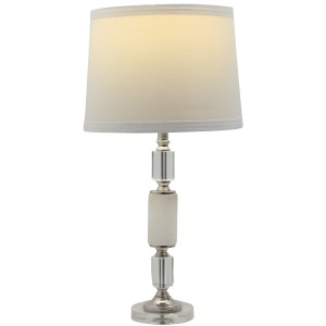 "30.5"" Crystal and Metal Table Lamp - Set of 2"