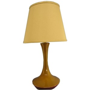27 inch Ceramic Table Lamp with Sunflower Finish.