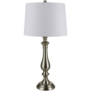 31.5 inch Metal Table Lamp in Brushed Steel