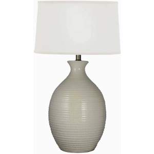 "29"" Ribbed Jar Ceramic Table Lamp"