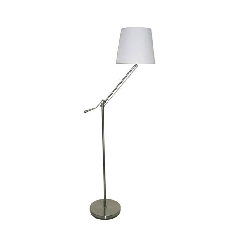 Brushed Nickel Metal Adjustable Floor Lamp