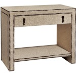 Harbor Springs Nailhead and Linen Nightstand