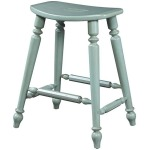 Summer Home Saddle Counter Stool