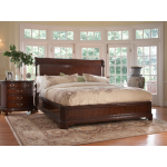 King Charleston Platform Panel Bed
