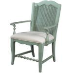 Wicker Back Arm Chair