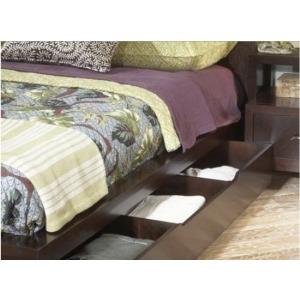 Carved Panel Storage Bed, King King