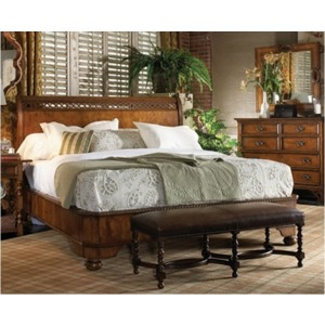 Kylemore Abbey Sleigh Bed, King King