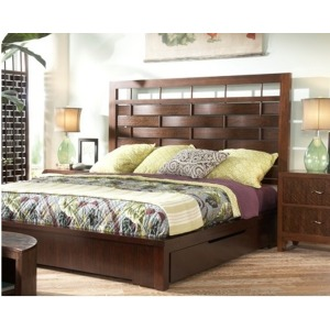 Lattice Storage Bed, King King