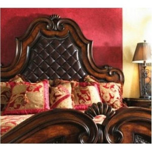 Leather Panel Bed, King King