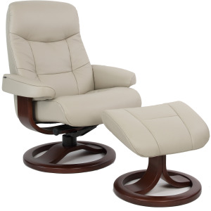 Muldal R Large Chair w/Footstool - Dove