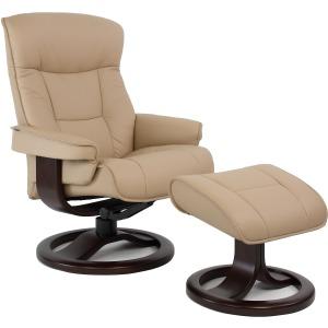 Bergen Large Reclining Chair w/Footstool - Fog