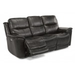 Cade Leather Power Reclining Sofa w/Power Headrests
