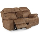 Como NuvoLeather Gliding Reclining Love Seat with Console