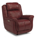 Brookings Leather Power Gliding Recliner W/ Power Headrest