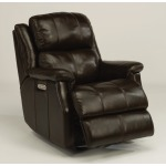 Mateo Leather Power Gliding Recliner W/ Power Headrest