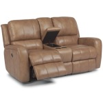 Hammond Leather Power Reclining Love Seat w/ Console