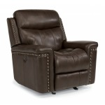 Leather Power Gliding Recliner
