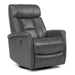 King Leather Power Swivel Gliding Recliner