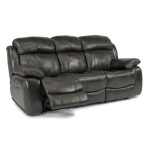 Como Leather Power Reclining Sofa w/ Power Headrests