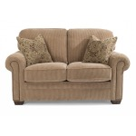 Fabric Loveseat with Nailhead Trim