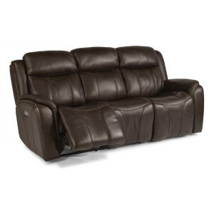 Paisley Leather Power Reclining Sofa w/Power Headrest