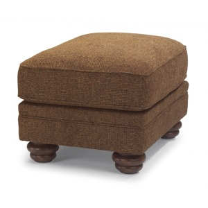 One-Tone Fabric Ottoman